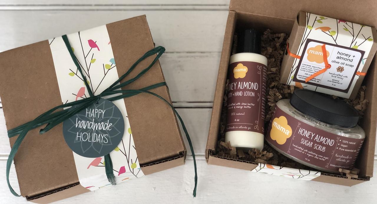 Honey Almond Gift Set | Mama Bath + Body