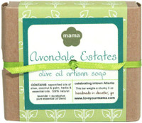 100% natural, handmade Avondale Estates Neighborhood Soap 5oz. wrapped