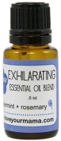 Exhilarating (Peppermint + Rosemary) Essential Oil Blend    Mama Bath + Body