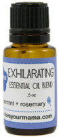 Exhilarating (Peppermint + Rosemary) Essential Oil Blend  | Mama Bath + Body