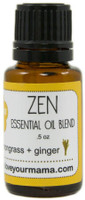 Zen (Lemongrass + Ginger) Essential Oil Blend | Mama Bath + Body