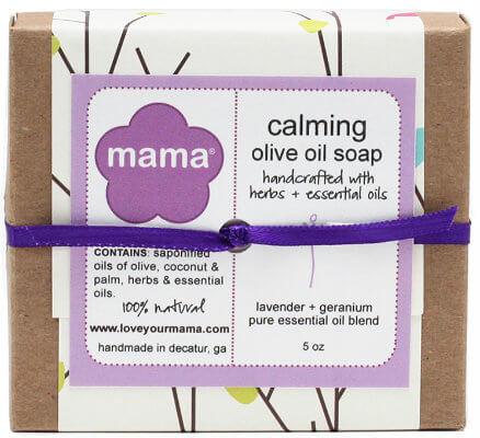 Calming Soap (Lavender + Geranium) - Gift Wrapped | Mama Bath + Body