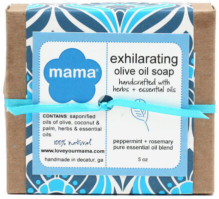 Exhilarating Soap (Peppermint + Rosemary) - Gift Wrapped | Mama Bath + Body