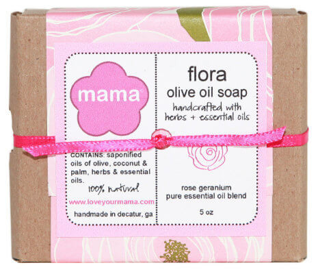 Flora Soap (Rose Geranium) - Gift Wrapped | Mama Bath + Body