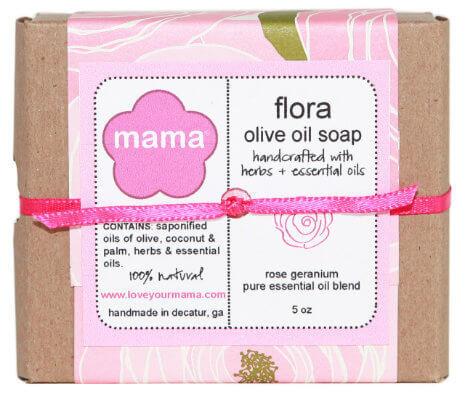 Flora Soap (Rose Geranium) - Gift Wrapped | Mama Bath + Body