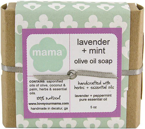Lavender + Mint Soap - Gift Wrapped | Mama Bath + Body