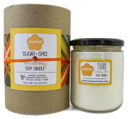 Sugar + Spice 12 oz. Glass Soy Candle | Mama Bath + Body