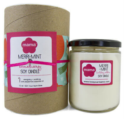 Merri-Mint Soy Candle - Glass Jar | Mama Bath + Body