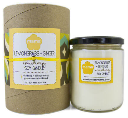 Lemongrass + Ginger (Zen) Soy Candle - Glass Jar | Mama Bath + Body