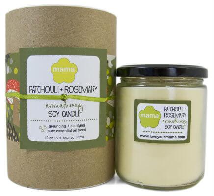 Patchouli + Rosemary (Karma) Soy Candle - Glass Jar   Mama Bath + Body