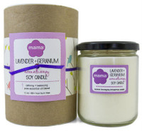 Lavender + Geranium (Calming) Soy Candle - Glass Jar | Mama Bath + Body