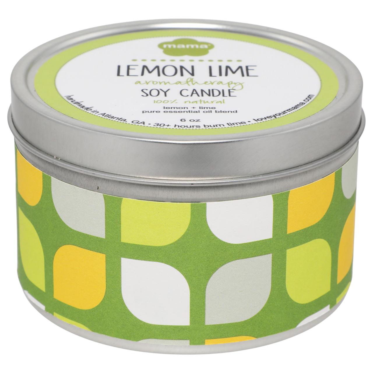 Lemon + Lime 6 oz. Soy Candle Tin | Mama Bath + Body