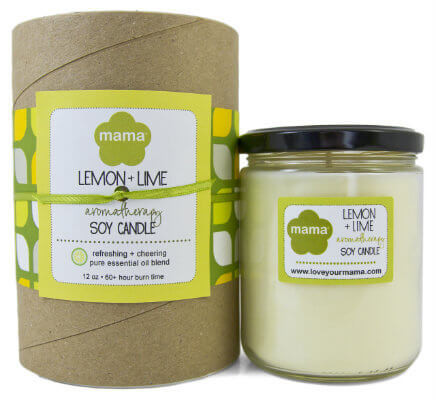 Lemon + Lime Soy Candle - Glass Jar | Mama Bath + Body