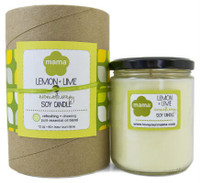 Lemon + Lime Soy Candle - Glass Jar | Mama Bath + Body