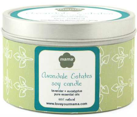 100% natural hand-poured Avondale Estates Neighborhood (Atlanta) soy candle in 6 oz. tin