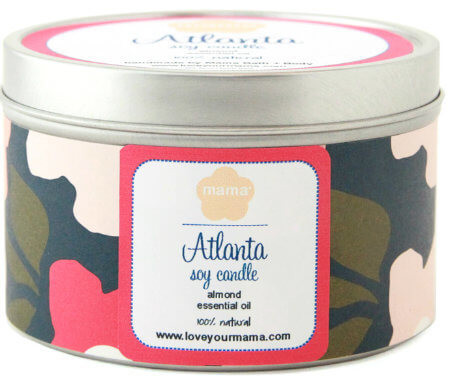 Atlanta Neighborhood Soy Candle | Mama Bath + Body