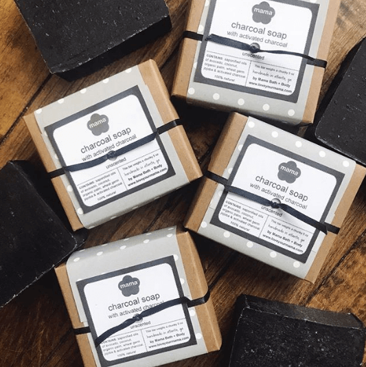 Charcoal Soap - Gift Wrapped | Mama Bath + Body