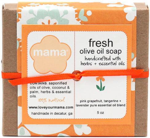 Fresh (Grapefruit, Tangerine + Lavender) Soap - Gift Wrapped | Mama Bath + Body