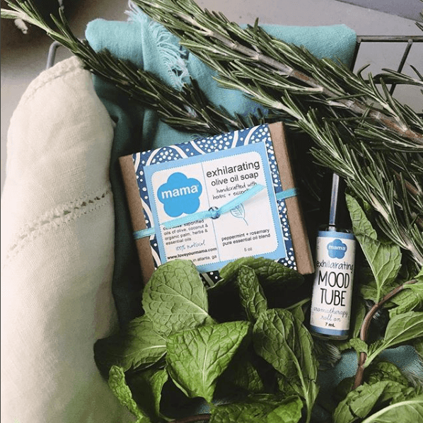 Exhilarating (Peppermint + Rosemary) Mood Tube | Mama Bath + Body