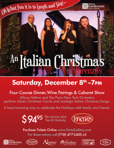 An Italian Christmas at Lorenzo's - Saturday, December 8th, 2018 - 7:00pm