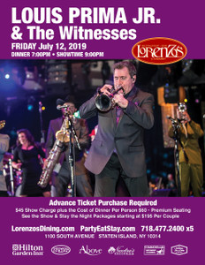 Louis Prima Jr & The Witnesses - Friday, July 12th 2019