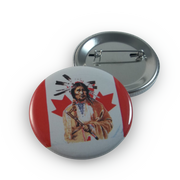 Native Canadian Flag Button