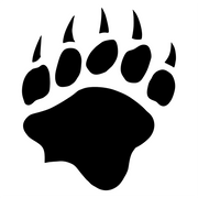 Bear Paw Decal