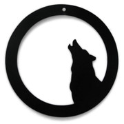 Howling Wolf Metal Silhouette
