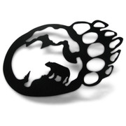 Bear Scenery Metal Silhouette