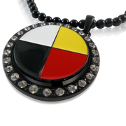 Medicine Wheel  Spinner Pendant