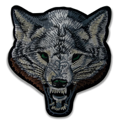 Wolf Gray Embroidered  Patch