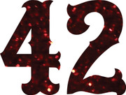 Glitter Iron-On Number
