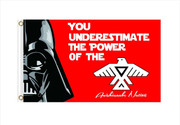 You Underestimate The Power of The Anishinaabe Nation Flag: 5ft x 3ft (150 x 90 cm)