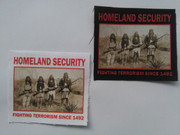 Homeland security Canvas Patch-Iron-On or Sew-On Appliqué Patch