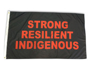 Strong Resilient Indigenous Flag: 5ft x 3ft (150 x 90 cm)