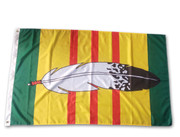 Vietnam Veterans Eagle Feather Flag: 5ft x 3ft (150 x 90 cm)