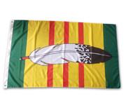 Vietnam Veterans Eagle Feather Flag: 5ft x 3ft (150 x 90 cm)