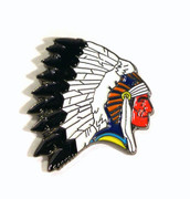 Chief Headdress Lapel Pin,Enamel Pin