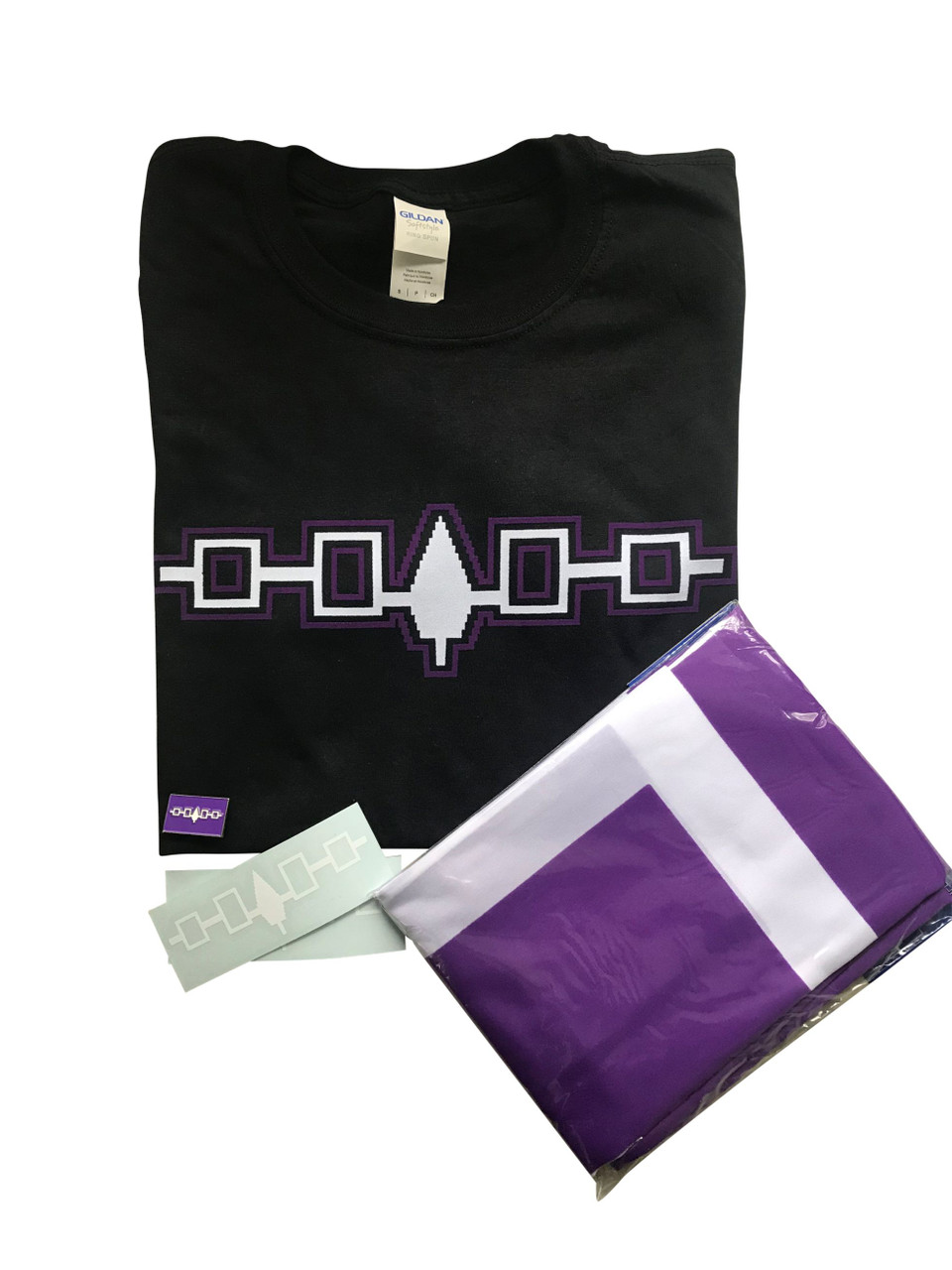 Iroquois Wampum Belt Iron-On Flock Design
