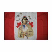 Canadian Indian Flag : 5ft x 3ft (150 x 90)