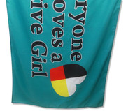 Everyone Loves A Native Girl Flag: 5ft x 3ft (150 x 90 cm)