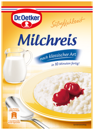 Dr. Oetker Milchreis / Vanilla Flavored Rice pudding 125g