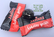 Jahnke Lakritz Gefuellt - Salmiac salt Filled Licorice 125 g / 4.4 Oz