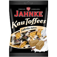 Jahnke Kautoffees Lakritz-Sahne / Licorice-cream Toffee Taffy 5.3 Oz - 150g