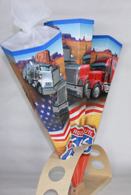 Trucks on the road in a deserts setup shows here on our Kidscone mostly chosen for Boys.