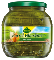The look has changed but the gherkins are still german and gundelheim!