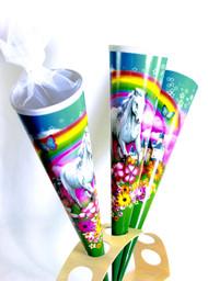 Kidscone White Horse with Rainbow (Round) Schultüte Zuckertüte