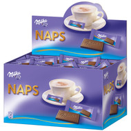 Milka Naps Mini Chocolate German Alpine Milk / 1.702 KG - 60 Oz (ca 355 Pieces)