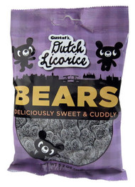 Gustaf's Dutch Licorice Bears - Sweet not salty soft licorice 150g - 5.29oz