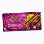 Chateau Rum Trauben Nuss - Rum Grape & Nut - Milk Chocolate 200g - 7.05 Oz